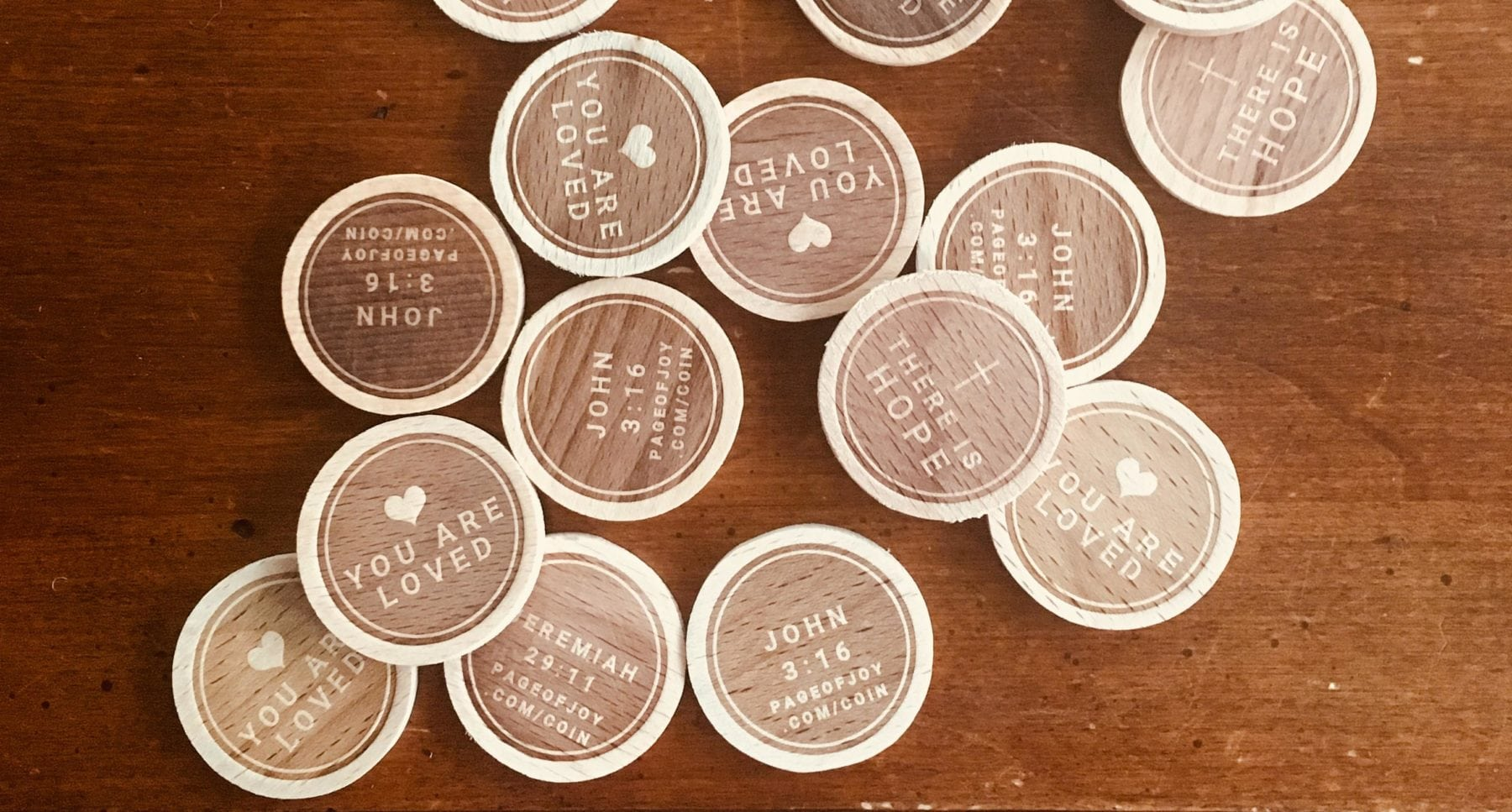 Scatter Joy Wooden Coins | Page of Joy