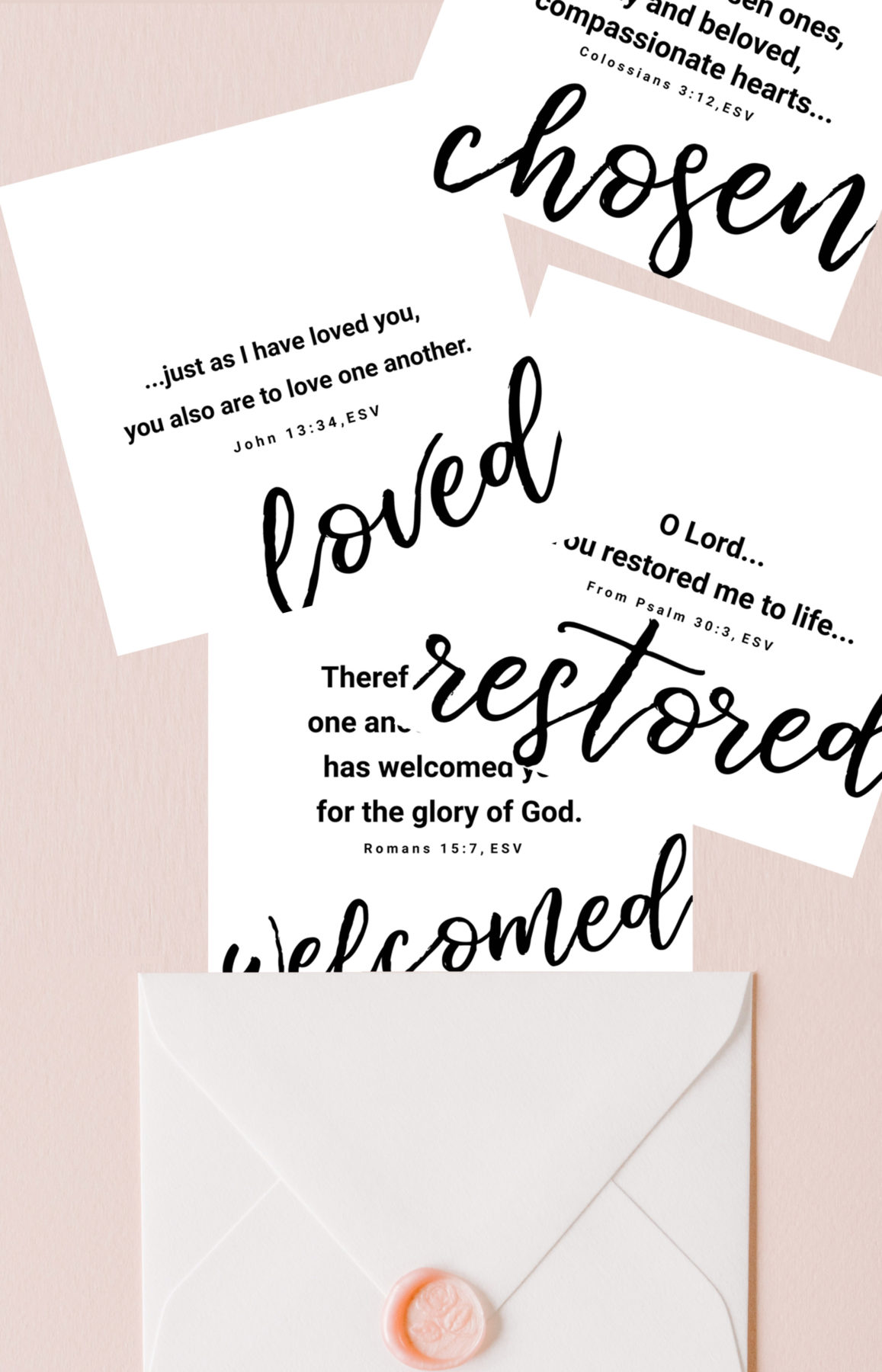 2019 You are Loved | Set of 8 Free Printable Bible Verse Cards